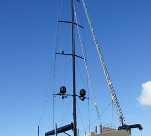 Beautiful 37m Fitzroy Sailing Yacht ESCAPADE hauls out at Oceania Marine