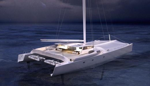 New 120' catamaran VITALIA II (ex Orange 2) to be launched by Multiplast