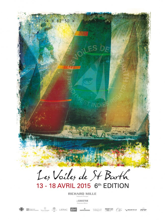 The new Voiles de Saint Barth's Poster - Photo credit to DR