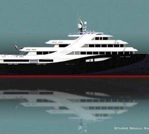 Breath-taking 109m Mega Yacht ESPRIT LARGE concept by Studio Sculli