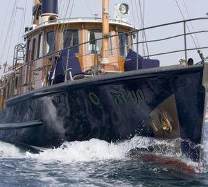 Refit of 24m Classic Motor Yacht FRYA to start at Dutch ShipYard soon