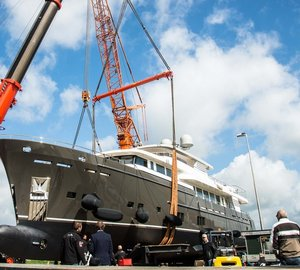 Launch of all-new 37m Superyacht SANTA MARIA T by Wim van der Valk