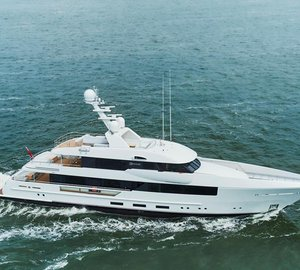 Brand new 44m FEADSHIP Motor Yacht MOON SAND under sea trials
