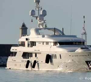 Outstanding 52m AMELS Motor Yacht SEAHORSE spotted in Livorno, Italy