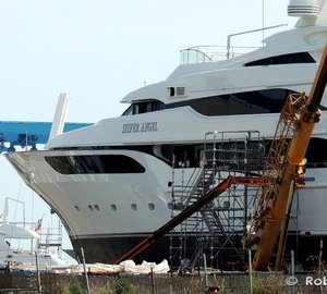 Majestic 65m Mega Yacht SILVER ANGEL spotted at Benetti