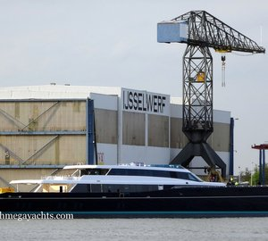 Massive 85m Oceanco Sailing yacht AQUIJO at Zwijnenburg