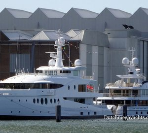 AMELS Superyachts Madame Kate and Hull 468 spotted in Vlissingen