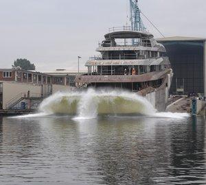 Impressive 91m Mega Yacht ORCHID splashes at Lurssen