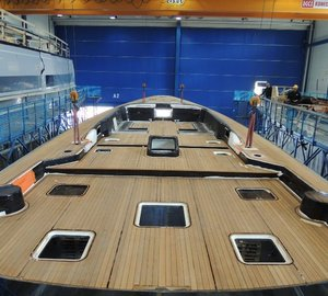 Flush deck to be installed on first Swan 115 FD Yacht soon