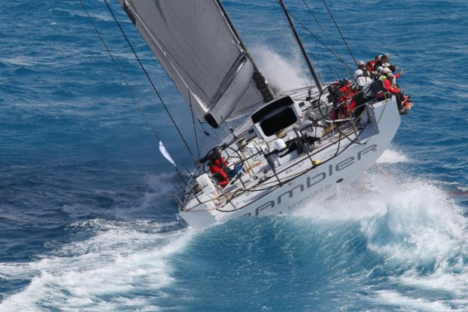 George David's Rambler 88 in the 2015 RORC Caribbean 600 © Tim Wright Photoaction.com