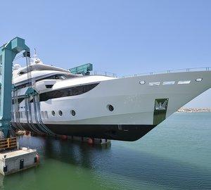 Eagerly awaited launch of Gulf Craft Superyacht MAJESTY 155