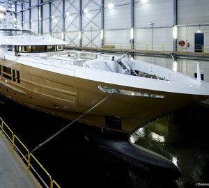 All-new 55m Fast Displacement Motor Yacht AZAMANTA (YN 17255) launched by Heesen Yachts