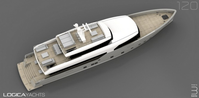 LOGICA 120 Yacht from above