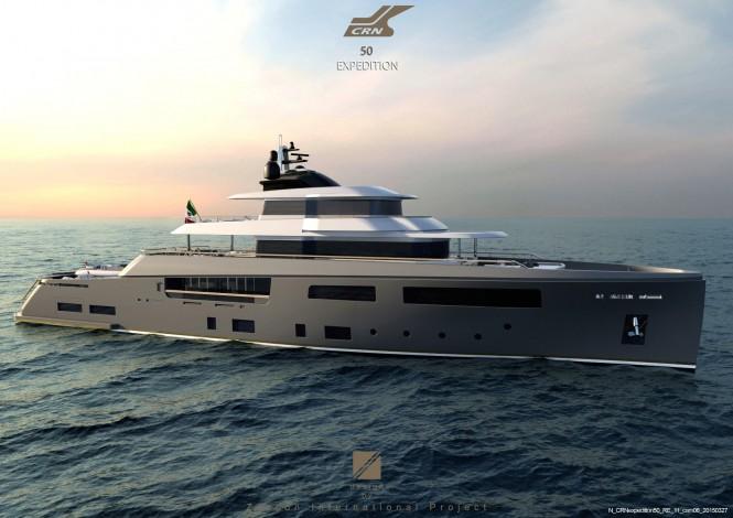 Luxury motor yacht Teseo concept