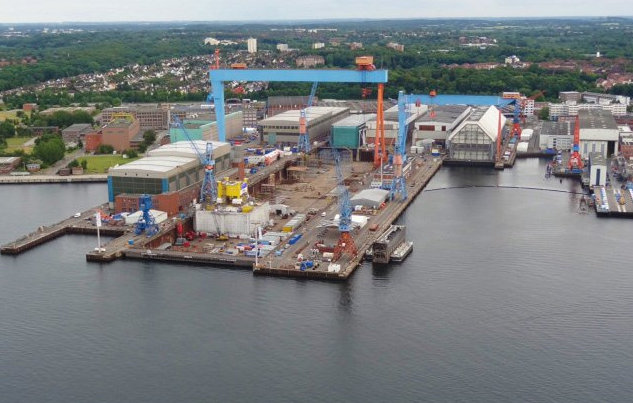 NOBISKRUG Shipyard in Kiel, Germany where WHITE PEARL Yacht was constructed