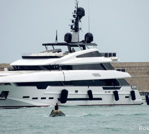 Elegant 49m Rossinavi Superyacht POLARIS spotted in Livorno, Italy