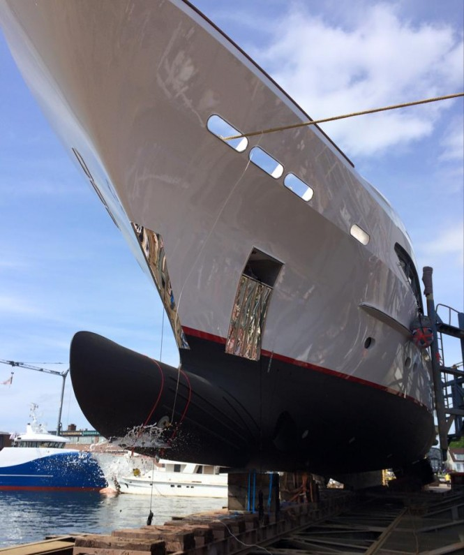 Re-launch of 44m Heesen charter yacht SEVEN SINS - Photo credit to Balk Shipyard