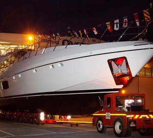Brand New Mangusta 110 Motor Yacht Hull #2 Launched