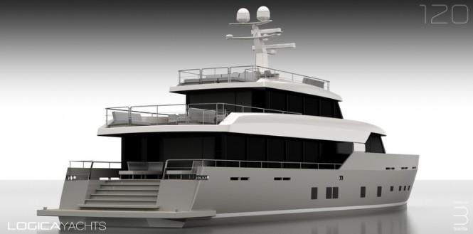 Superyacht LOGICA 120 - aft view