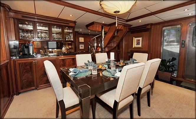Superyacht VIVIERAE - Dining - Photo credit to Destry Darr Designs