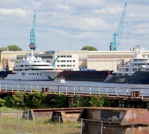 Impressive Lurssen Mega Yachts PHOENIX 2, QUANTUM BLUE and ICE