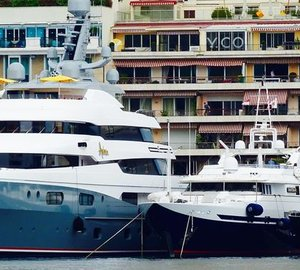 Three Wild Group-wrapped Superyachts on Display in Monaco