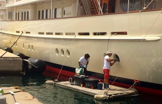 Works on ATHENA Yacht