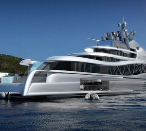 Breath-taking 145m Mega Yacht FORTISSIMO concept FOR SALE
