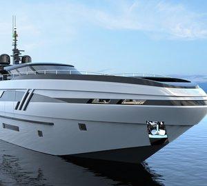 Beautiful 43m Motor Yacht ELDORIS concept by Federico Fiorentino and Eurocraft