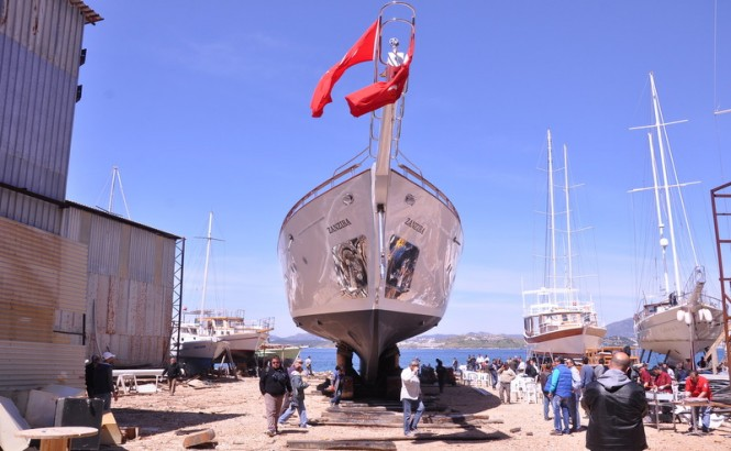 46m Sailing Superyacht Zanziba ready to hit the water