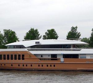 Striking 55m HEESEN Superyacht AZAMANTA in the Netherlands