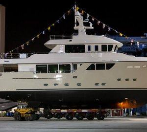 New Darwin 86 Explorer Motor Yacht STELLA DEL NORD ready to be launched by CdM