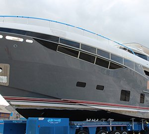 Exclusive Images of New Princess 35M Superyacht Hull #1