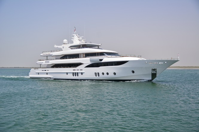 Gulf Craft Largest Ever Superyacht Majesty 155 on her First Sea Trial