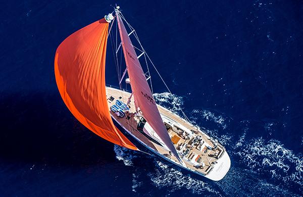 Humphreys-designed Oyster 825 superyacht MAEGAN under sail