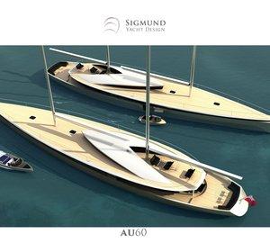 Latest 60m Mega Yacht AU60 concept by Sigmund Yacht Design