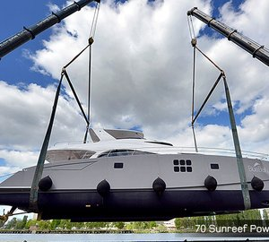 New 70 Sunreef Power Catamaran BLUE BELLY Launched