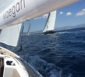 Two New Oyster Superyachts shine in Race One of Superyacht Cup Palma 2015