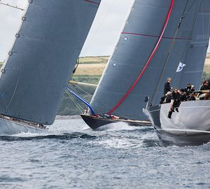 J Class Falmouth Regatta 2015 Overall Victory for Pendennis-refitted Superyacht LIONHEART