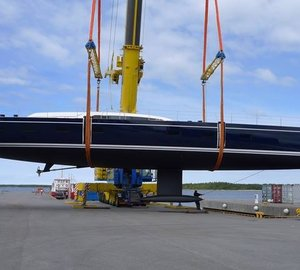 New Sailing Yacht Swan 115-001 S splashes at Nautor's Swan