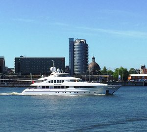 Luxury Yacht SEVEN SINS Ready for the Mediterranean Charter Season Following Bow Extension Refit
