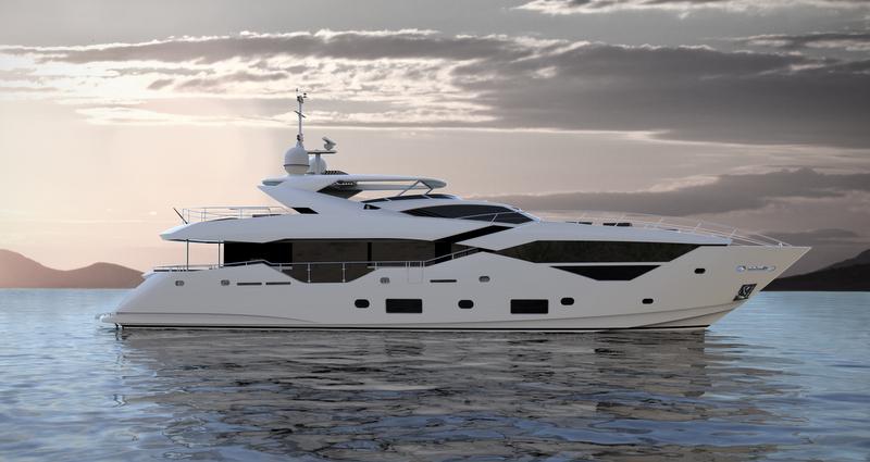 Sunseeker 116 Yacht Side View Yacht Charter