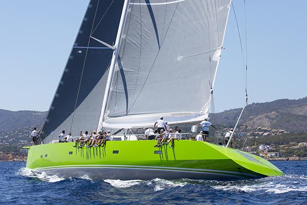The well powered 33m super yacht Inouï claimed top slot in Class B. ©www.clairematches.com