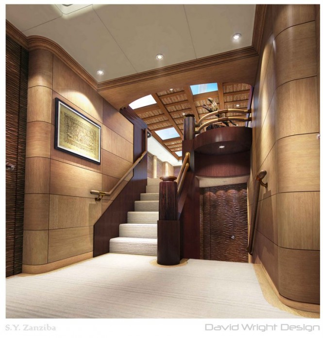 Zanziba superyacht - Staircase