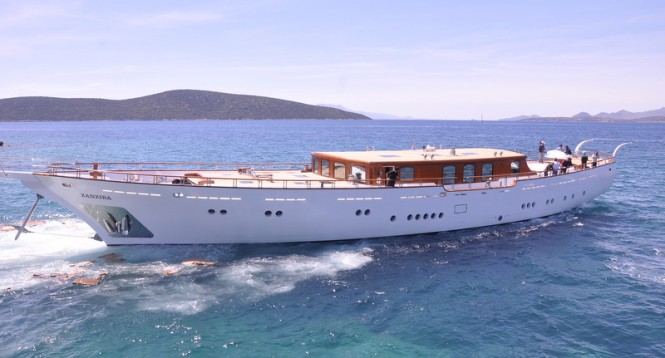 Zanziba superyacht on the water