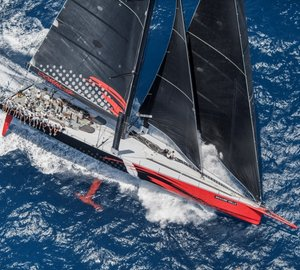 New monohull 24 hour distance record set by striking 100ft Supermaxi Yacht COMANCHE by Hodgdon Yachts
