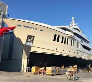 New 41m Motor Yacht RUYA splashes at Alia Yachts in Turkey