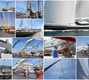 Majestic 45m Vitters Sailing Yacht LADY B completes full rigging program with RSB Rigging Solutions