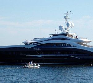 Striking 50m HEESEN Superyacht ANN G in Rotterdam for christening