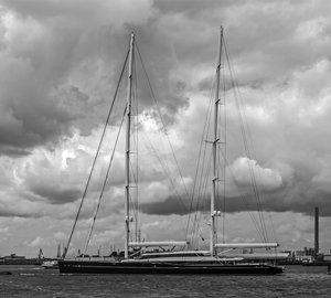 Voluminous 85m Oceanco/Vitters Sailing Yacht AQUIJO spotted in Rotterdam